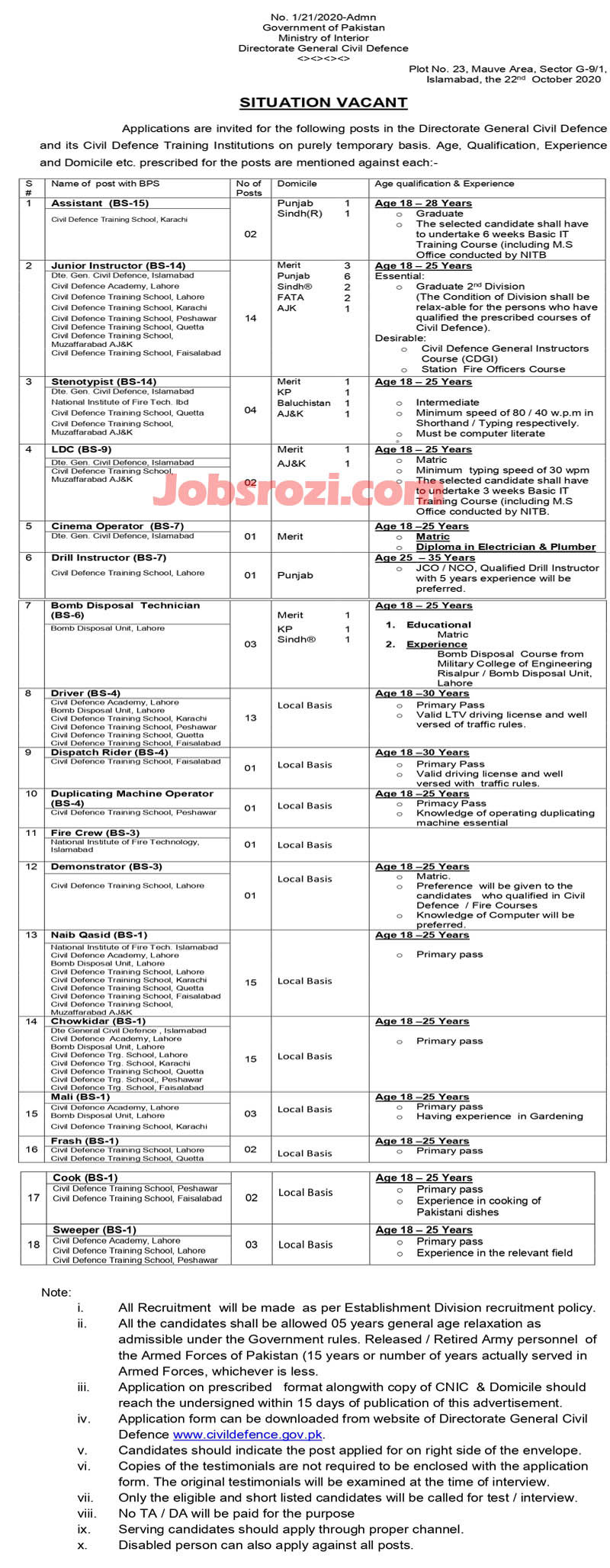 Ministry of Interior Jobs