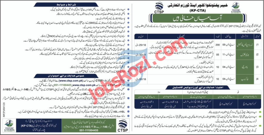 Culture and Tourism Authority Jobs